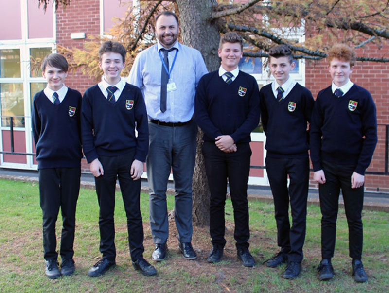 Group of students from Exmouth Community College