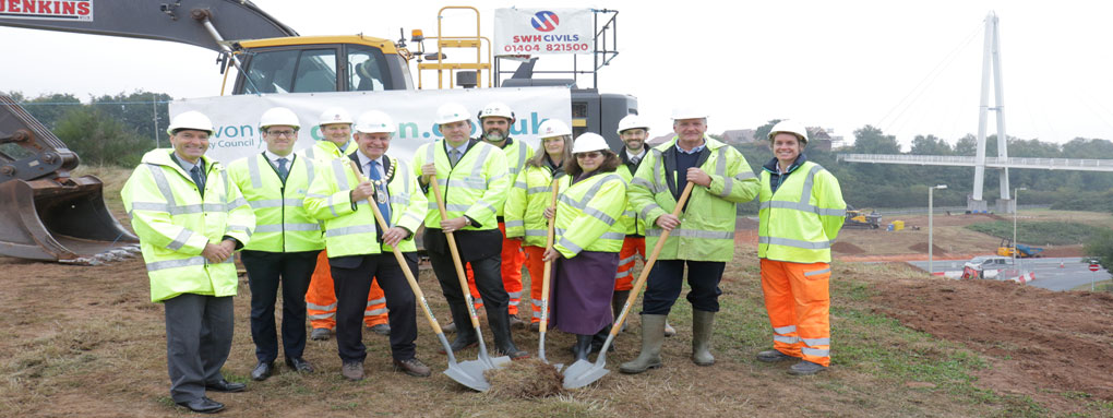 Photo from the turf cutting ceremony