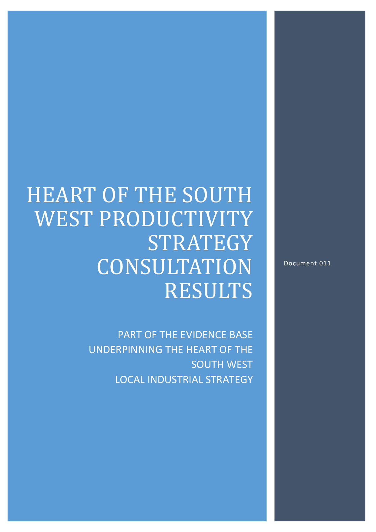 011 Heart of the South West Productivity Strate