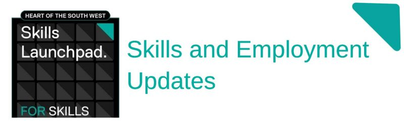 Banner with Skills Launchpad logo and the text Skills and Employment Updates